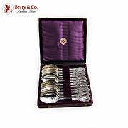 Tiffany Co Diamond Teaspoons Boxed Set J Polhamus Sterling Silver 1887
