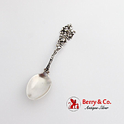 Floral Repousse Rose Spoon Paye Baker Sterling Silver