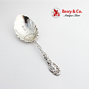 Versailles Berry Spoon Shell Bowl Gorham Sterling Silver Monogram