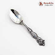 Gemini Souvenir Spoon Apple Blossom Handle Wallace Sterling Silver