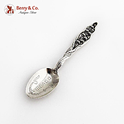Lily Of The Valley Teaspoon Chicago Engraved Bowl Whiting Sterling Silver