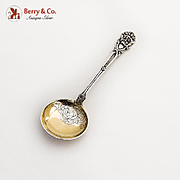 Scandinavian Spoon Engraved Gilt Bowl 830 Standard Silver 1920