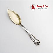 Mazarin Jelly Knife Gilt Blade Dominick Haff Sterling Silver Pat 1892