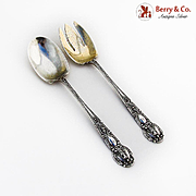 Renaissance Salad Serving Set Tiffany Co Sterling Silver Pat 1905 Monogram