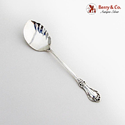 Wild Rose Jelly Spoon International Sterling Silver 1948 No Mono