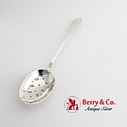 Faneuil Pierced Vegetable Spoon Tiffany Co Sterling Silver 1910