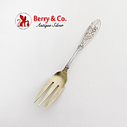 Honeysuckle Old Style Pickle Fork Whiting Mfg Co Sterling Silver Pat 1875