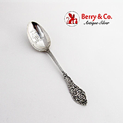Openwork Trianon Teaspoon Dominick Haff Sterling Silver 1887 Mono