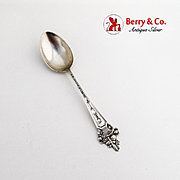 California Souvenir Spoon Flower Basket Handle Watson Sterling Silver 1910