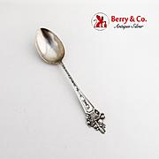 California Souvenir Spoon Flower Basket Handle Watson Sterling Silver 1910