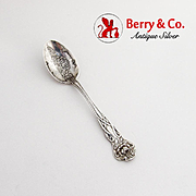 Rose Souvenir Teaspoon Starved Rock Embossed Bowl Watson Sterling Silver