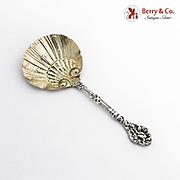 Versailles Bon Bon Candy Nut Spoon Gilt Shell Bowl Gorham Sterling Silver