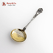 Ornate Figural Spoon Gilt Bowl Norwegian 830 Standard Silver 1900 Mono