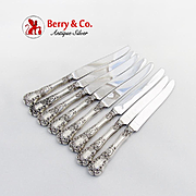 Buttercup Luncheon Knives Set New French Blades Gorham Sterling Silver