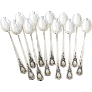 Madam Jumel Iced Tea Spoons Set Whiting Mfg Co Sterling Silver Pat 1909