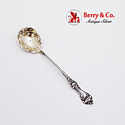 Floral Olive Spoon Gilt Pierced Bowl Baker Manchester Mfg Co Sterling Silver