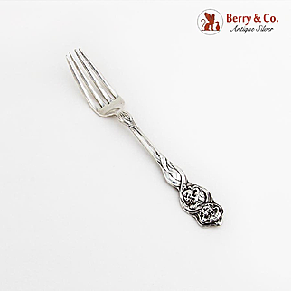 Cupid Sunbeams Small Fork Unger Bros 1904 Sterling Silver Mono C