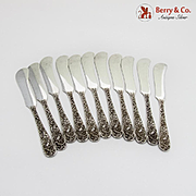 Repousse Set of 11 Butter Spreaders Sterling Silver S. Kirk and Son Inc.