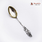 Vintage Teaspoon Oranges and Blossoms Sterling Silver 1900