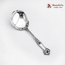 Morning Glory Berry Spoon Alvin Sterling Silver 1909