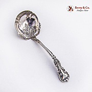 Antique Ornate Gravy Ladle Sterling Silver 1890