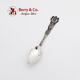 Honolulu Souvenir Spoon Sterling Silver 1900