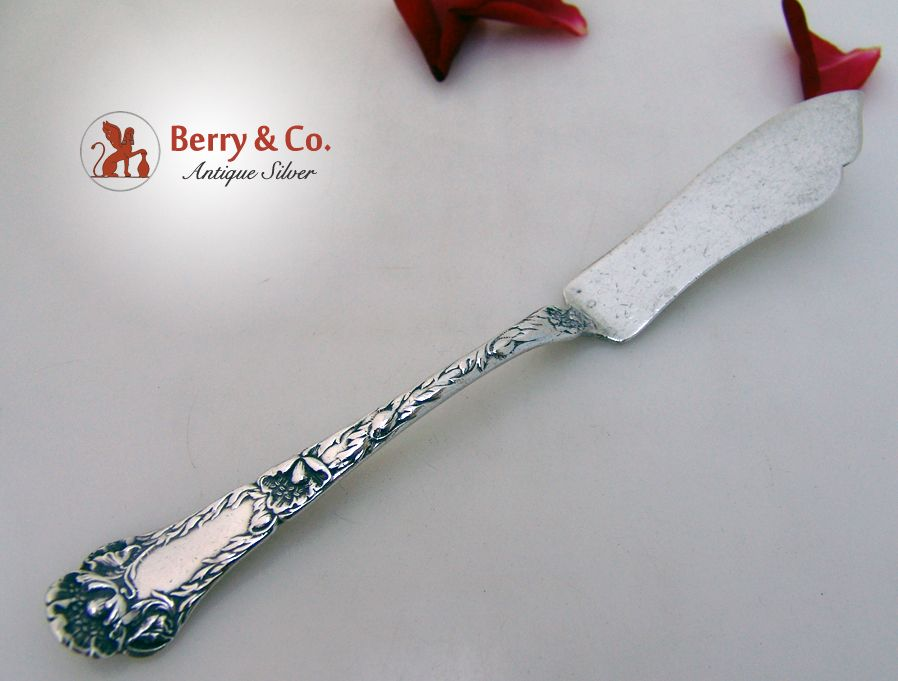 Poppy Master Butter Knife Gorham 1902 Sterling SIlver no Monogram