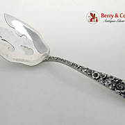 Forget Me Not Vegetable Serving Fork Stieff Sterling Silver 1910 No Monogram