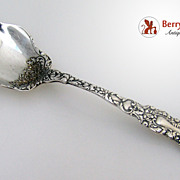 Imperial Chrysanthemum Sugar Spoon Gorham 1894 Sterling SIlver No Monogram
