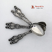 Lily Whiting Teaspoons Patent 1902 Sterling SIlver No Monogram
