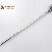 Egyptian Meat Skewer 900 Standard Silver 1940 Shell Leaf