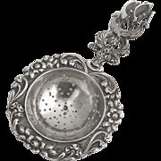 Ship Tea Strainer Dutch 833 Silver 1890