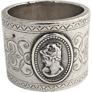 Medallion Napkin Ring 1868 Coin Silver