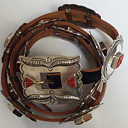 Roger Skeet Jr.  Sterling and coral concho belt.