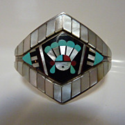 Zuni inlay bracelet by Dilbert and Carol Seciwa