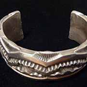 Marc Antia huge sterling stamped cuff.