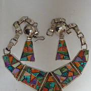 Lynol Yellowhorse necklace/earring set.