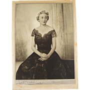 Signed Dorothy Wilding Bond Street Studio Photograph of Mrs Hugh Labatt
