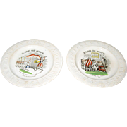 2 Band Of Hope ABC Plates 19th Century