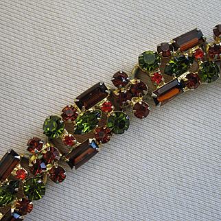 Splendid D&E JULIANA Multicolor Rhinestone Bracelet - Great Colors!