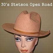 Vintage Stetson Open Road Hat