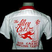 60's Women's Bowling Shirt, Alley Cats