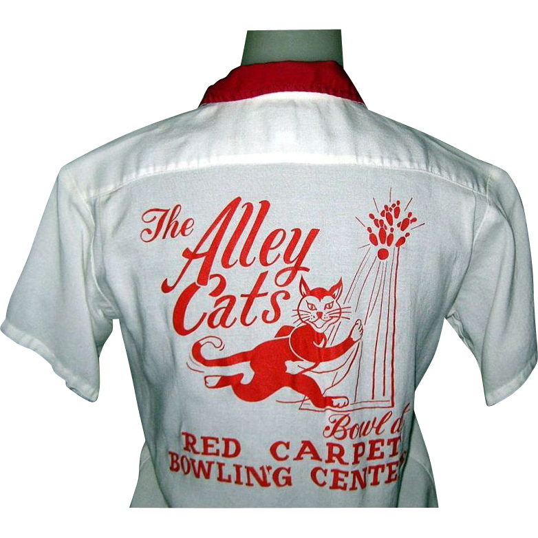 60's Women's Bowling Shirt, Alley Cats