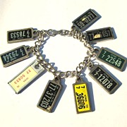 Vintage Key Ring License Plate Bracelet - Iowa County 77