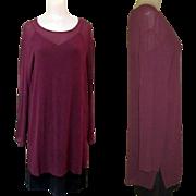 Vintage Silk Tunic, Sheer Purple, Carole Little