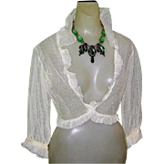 Deco 1930's Silk  Nightgown & Bed Jacket, Peignoir Set