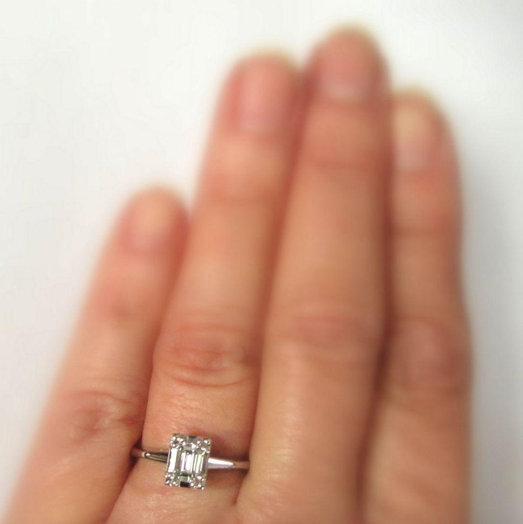 Diamond Engagement Ring 14k Emerald Cut 1 2 Carat From