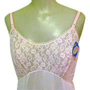 50's Slip, Pink Lace Bodice, NWT, Sz 40, Vintage Kayser