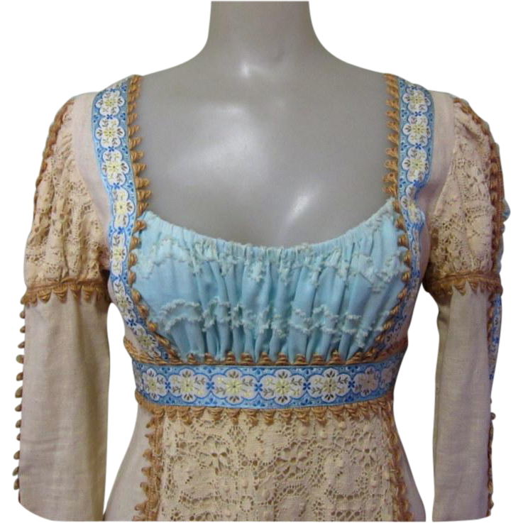 Vintage Wedding Dresses Chicago: 60's Gunne Sax Dress, Black Label, Medieval Renaissance