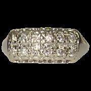 Diamond Wedding / Anniversary Band, 14K WG,  Deco